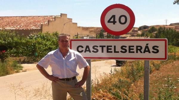 Ricardo Lop en Castelserás, localidad en la que está  Aceros de Hispania.