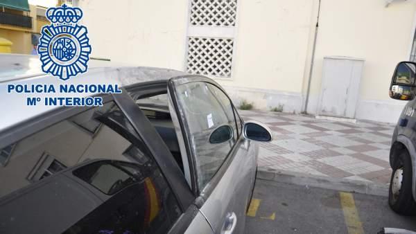 Coche forzado en un robo en El Puerto de Santa María