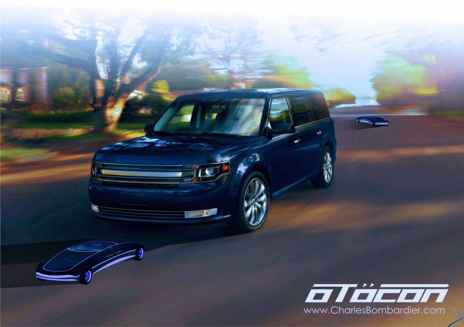 Prototipo de movilidad: OTÖCON. Es un robot creado para ser una pratulla fronteriza e inspeccionar los vehículos en las fronteras, registrar todas las actividades de tráfico y recopilar información sobre los vehículos. También podría ser utilizado para dirigir el tráfico durante la noche utilizando proyectores LED o pequeños láseres.