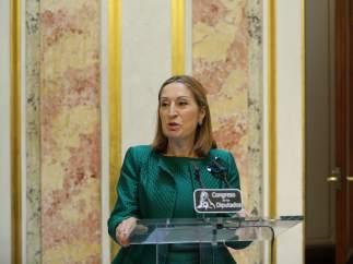 Ana Pastor en rueda de prensa en el Congreso