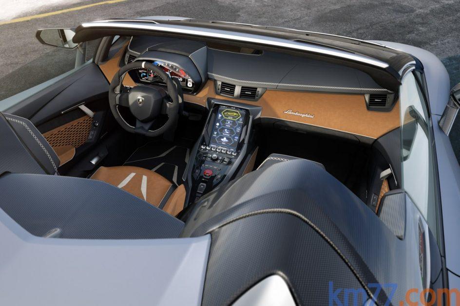 Imagen del interior del Lamborguini Centenario Roadster