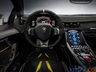 Interior del Lamborghini Centenario Cupé