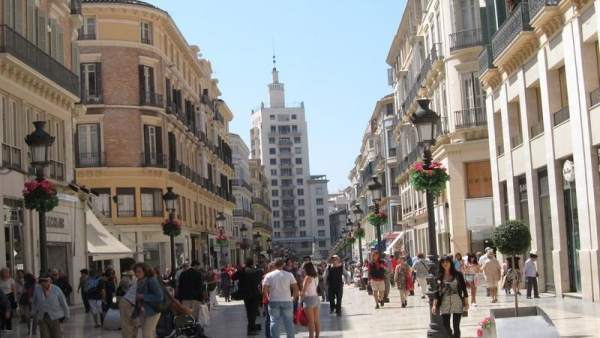 Turistas en Málaga