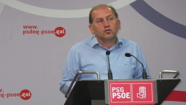 El candidato a la Xunta del PSdeG, Xoaquín Fernández  Leiceaga
