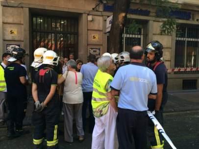 Desalojo edificio barrio Salamanca