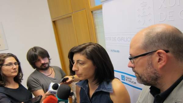 La conselleira de Medio Rural, Ángeles Vázquez, y el alcalde de Santiago