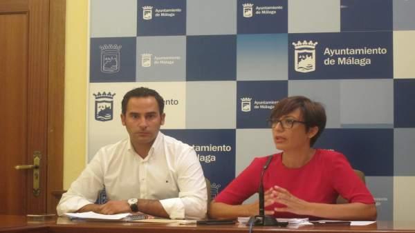 Los ediles del PSOE en el Ayuntamiento Dani Pérez y María Gámez