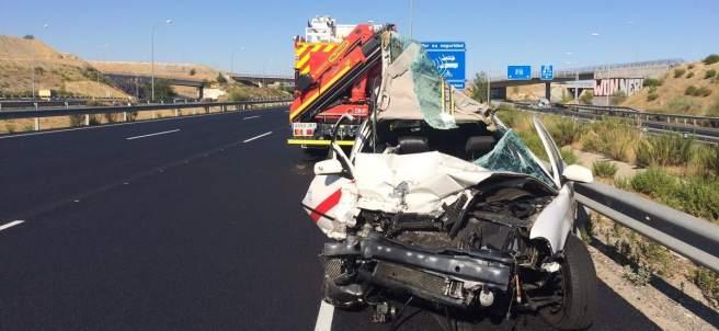 Imagen de archivo de un accidente en Madrid
