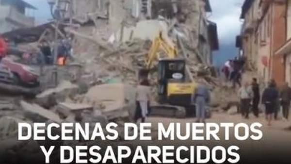 Un terremoto de magnitud 6.2 sacude el centro de Italia