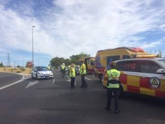 Accidente de moto mortal
