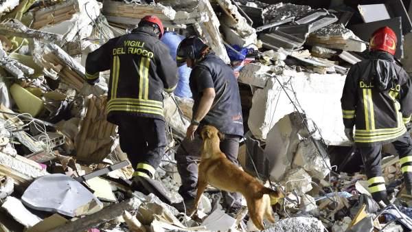 Amatrice a vista de dron, tras el terremoto en Italia