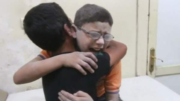 Al menos 5 niños muertos por los bombardeos en Alepo