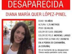 """La búsqueda de Diana Quer se amplía fuera de Galicia: """"Todas las líneas están abiertas"""""""