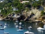 Cala Vedella, Ibiza, donde un británico de 33 años ha sido agredido por un taxista pirata con un bate de béisbol