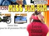 Cartel del polémico concurso de traseros grandes Miss Bim-Bim