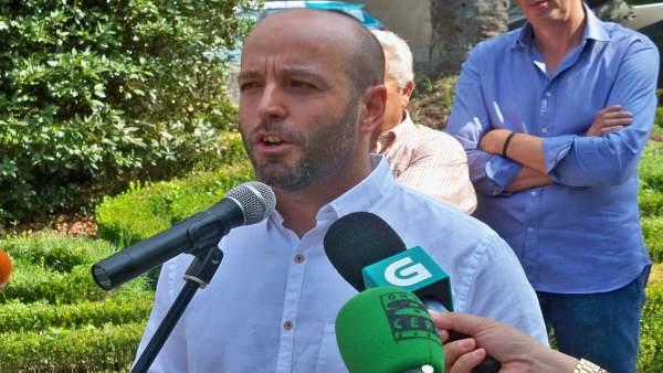 Luís Villares en Ourense.