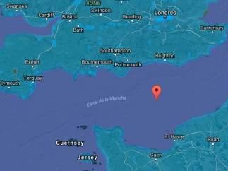Vista satélite del Canal de La Mancha