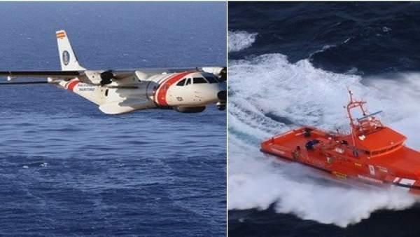 El avión Sasemar 101 y Guardamar Polimnia