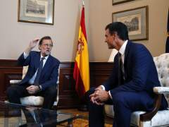Rajoy y Sánchez zanjan en media hora su reunión sobre la investidura
