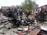 Escenario del atentado en Yemen, donde han muerto al menos 50 personas.