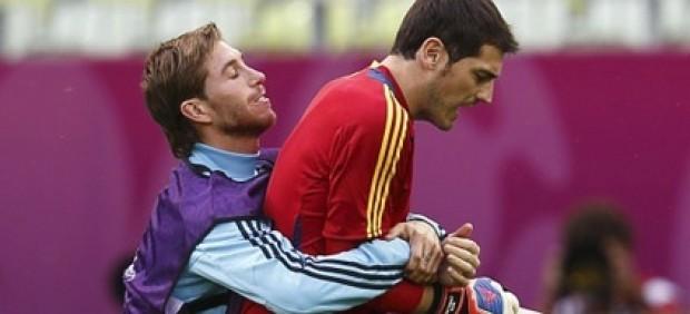 Sergio Ramos e  Iker Casillas