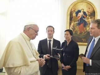 Mark Zuckerberg y el Papa