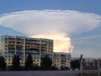 Nube en forma de hongo en Siberia.