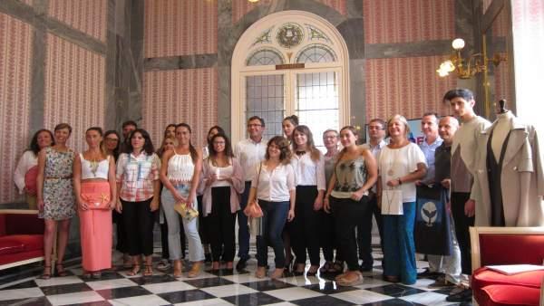 Alcalde de Murcia, concejales y diseñadores participantes en 'Made In Murcia'