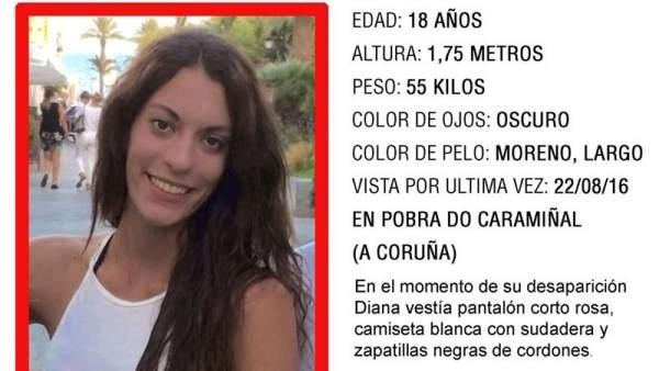 """Muchas llamadas"" sitúan a Diana Quer en Lugo"