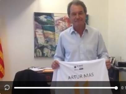 El presidente del PDC Artur Mas en un vídeo para anunciar que irá a la Diada