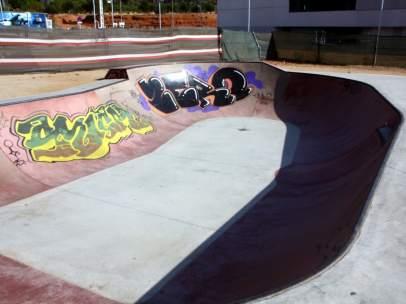 Imagen de la pista de skate del shatepark de Viladecans.