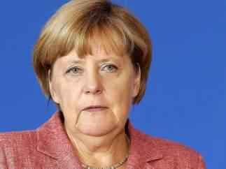 Merkel, en una de sus últimas comparecencias ante la prensa