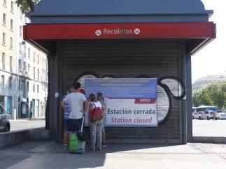 Adif ya cerró Recoletos hace tres años.