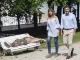 Idoia Mendia y Pedro Sánchez