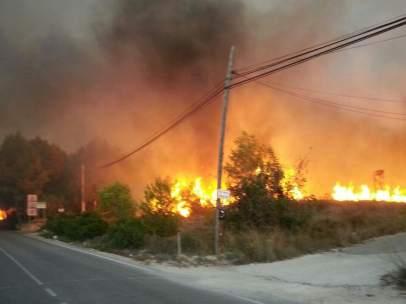 Incendio en Jávea (Alicante)