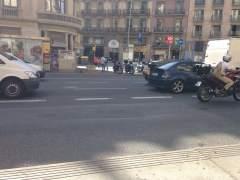 Bache en la Plaza Universidad de Barcelona