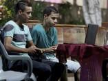 Jóvenes en Gaza