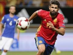 Diego Costa sufre un fuerte golpe en el tobillo y es duda ante Francia