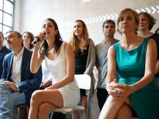 Rita Maestre y Tania Sánchez en la presentación de 'Proceso Adelante'