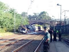 Accidente ferroviario en O Porriño (Pontevedra)