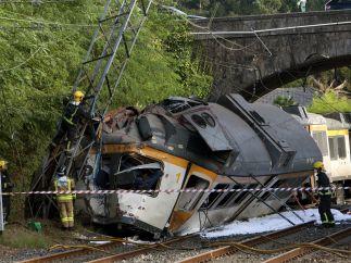 Accidente de tren en Pontevedra