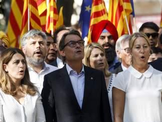 Artur Mas, presente en la Diada