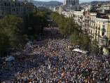 Barcelona, abarrotada en la Diada