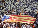 Imagen del 'latido' de la Diada en Barcelona.