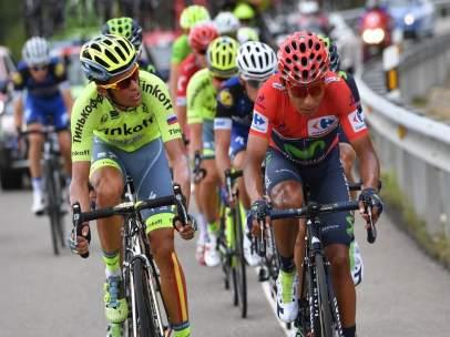 Nairo Quintana y Alberto Contador en La Vuelta 2016