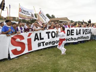 Marcha en favor del Toro de la Vega