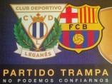 Lema del Leganés para recibir al Barça