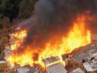 Incendio en Osasco (Sao Paulo)