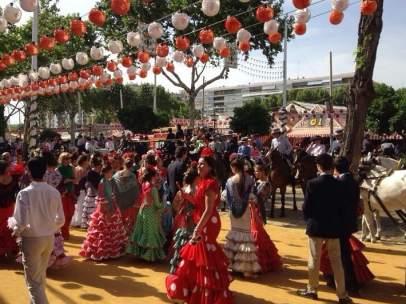 Imagen del recinto de la Feria de Abril de Sevilla