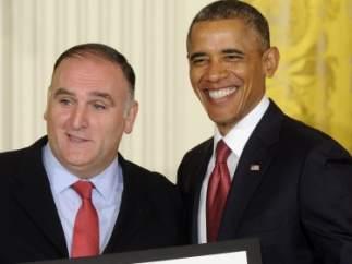 Barack Obama y el chef José Andrés